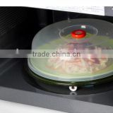 transparent round microwave plate/food cover