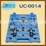 18pcs Car Disc Brake Caliper Tool Adapters Kit / Under Car Tool Set Of Auto Body Repair Tool Kit