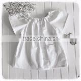Boutique Long Sleeve Shirts Wholesale Tshirt Cotton Off-white Baby Girl T-shirt