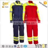 Nomex and FR Viscose Blended Fabric Permanent Flame Retardant Coverall With 3M Reflective tape