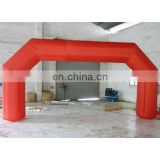 2015 red inflatable arch door for event .