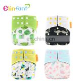 Elinfant new prints cloth diaper snap double gussets plain fabric baby cloth diaper