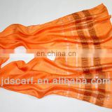 polyester , summer ,silk , thin orange scarves hijab+turc