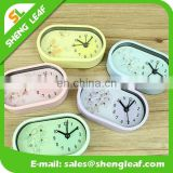 Romantic floral oval alarm clock The new fashion and elegant lazy alarm clock with big size