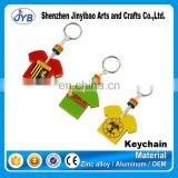 Custom football jersey soft pvc silicone keychain rubber key chains for fans