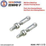 Sensong Factory M8 Metal Steel Face Inductive Proximity Sensor Flush 1mm Sensing Distance 2 Wire NO NC M12 Connector