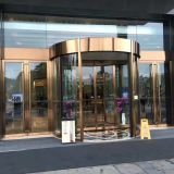 Two-wing automatic revolving door, Tempered glass hotel revolving door