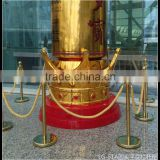 Stainless Steel Flat Basel Barrier With Velvet Or Twist Rope For Crowd Control