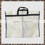 Recently light breathable suit custom foldable buckled non woven garment bag