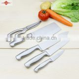 ZY-B1004 5pcs convenient full stainless steel kitchen knife set