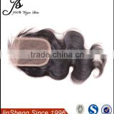 "New arrival 100% Human hair,virgin hair closure brazilian(4""x4""), 30g~40g color 1b# can be dyed 10""12""14""16""18"""