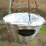 wed flower round wicker basket watering window hydroponic systems hanging flower pot                                                                         Quality Choice