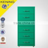 Aluminium Alloy Handles Storage Cabinets / Mobile Metal Locker Cabinet/Steel Drawers Cabinets with Wheels