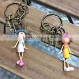 Small Human Figure Plastic Key Chain link Toys Connecting Toys