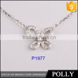 Dubai jewellry butterfly necklace girl's silver sterling necklace fashion jewelry