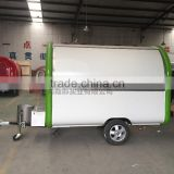 2016 mobile food trailer 7.6*5.5ft green Fast Food Cart For Sales,fast food trailer food truck van trailer