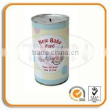 New Baby Fund Tin Coin Bank