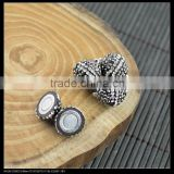 LFD-00C4 Wholesale 12MM Round Shape Pave Rhinestone Crystal Magnetic Clasp Jewelry Making Finding