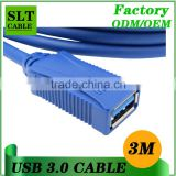 Shenlantuo usb 3.0 cable usb male to female extension cable 3m usb extension cable for printer