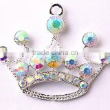 Wow!! Bulk Cheap Charm crystal crown rhinestone pendants for kids jewelry amking!