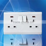 Made in china High quality 2*13A plate electric univerasl wall socket with switch                                                                         Quality Choice