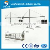 zlp800 aluminum electric motor gondola lift / zlp630 wire rope cradle / building painting suspended platform