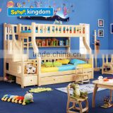 kids queen size bed of 100% solid wood bed with drawers