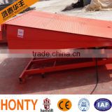 adjustable hydraulic Stationary loading and unloading dock leveler,cargo lift, loading ramp for truck container and forklift