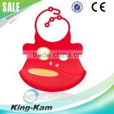 Silicone baby bib with customed shape