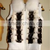 mk14038 popular style black Mink piece fur vest DISCOUNT
