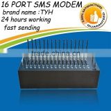 Rs232/USB gsm bulk sms modem 16 port with wavecom Q2406 newest module,gsm module car alarm system