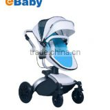 Professional High landscape shockproof baby stroller, 3 In 1 baby strolle with leather material