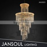 large Golden beaded string crystal chandelier