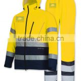 EN343 ergonomic design high visbility men bomber jacket with reflective tapes                                                                         Quality Choice
