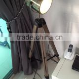 Vintage Bronze Wood Tripod Floor Lamp Nature Giant Spotlight Floor Lamp for House Decorative