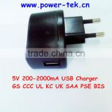 3V 6V 12V 18V 12W UK hot sale USB power adapter with CB/GS/CE/TUV/ETL/CCC/FCC/PSE KC/C-TICK