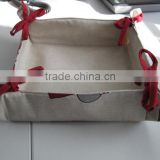 Cotton Bread Basket for Promotion and gift basket for storage customized Logo available basket -3