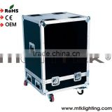 Mounteck Wholesale Price Small Order Large Aluminum flight Case cdj with wheels and 15MM board for heavy transport