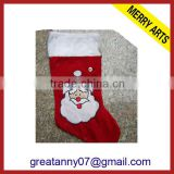 2014 new hot x'mas decoration unique christmas stocking handmade felt christmas stockings santa claus stockings wholesale