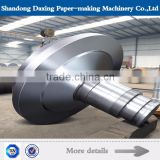 Forged steel shaft head, roll shaft ,drive shaft with large diameter used in roll for paper machine
