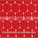 china whosale Red stretch beaded lace fabric for dress fabric