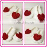 lovely crochet heart pattern shoes infant fashion baby soft boots for girls