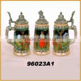 handmae ceramic beer steins with lid new beer mug wholesale