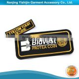 Black & Yellow PVC Brand Logo Embossed Clothing Label