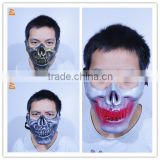 2015 wholesale halloween horror half mask designs make scary black face mask                                                                         Quality Choice
