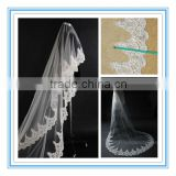 Long Cathedral Lace Edge Bridal Veil Wedding Accessary(AC-1079)