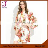 FUNG 3002 Stock Available Ladies' Silk NightDress Pajama