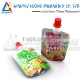 LIXING PACKAGING vegetable packaging printing spout pouch for baby food                                                                         Quality Choice