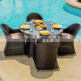 Hotsale outdoor patio dining table and chair set restaurant designer resin outdoor furniture                                                                         Quality Choice                                                                     Supplie