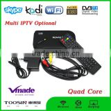 TOP 1 hot selling cheapest Amlogic S805 quad core Full HD 1080P Android TV Box DVB-T2 Tuner Receiver KODI TV Box